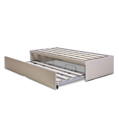 BOX BICAMA PILATI FLAT CORANO BEGE SOLTEIRO KING - 96x203 cm